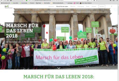 Lebens-Marsch in Berlin